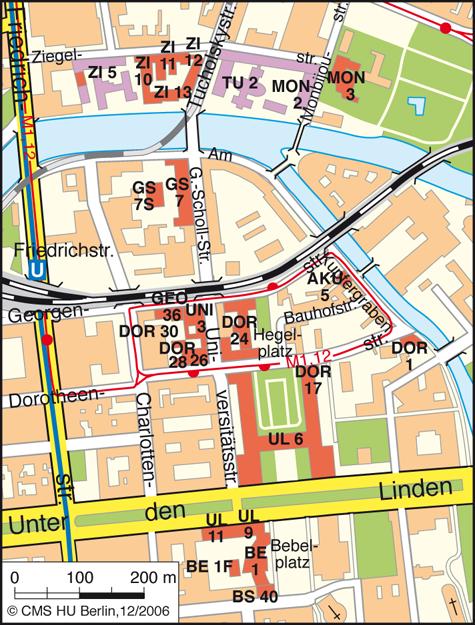 Übersichtplan Campus Berlin Mitte